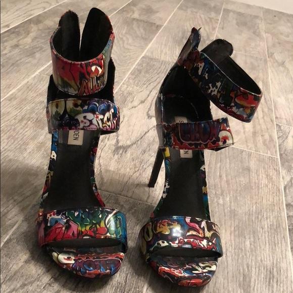 95a589d264f Steven Madden graffiti heels